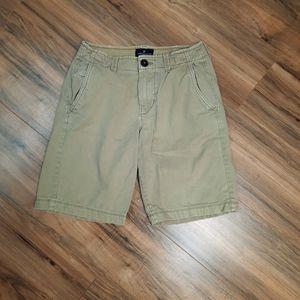 American Eagle Flat Front Khaki Tan Shorts Size 26